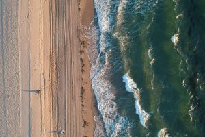oceanside drone photography ocean seaside top view drone shot oceanshore drone view water shore