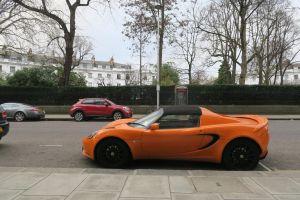 orange car car lotus