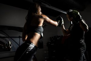 people woman fitness boxing