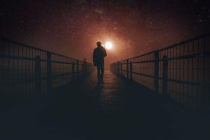 person light night