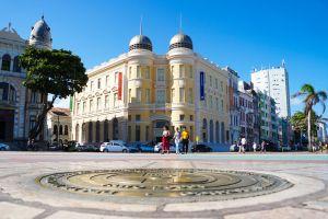 portugues city tourism observation tower apartment buildings culture sun pernambuco brazil recife antigo