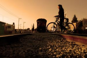 railway barrio bicycle train track beautiful women mexico railway line train