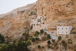 red rocks mountain monastery middle east chapel desert