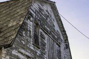 rooftop sunset barn weathered abandoned building