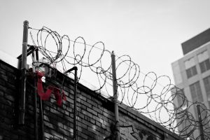 rotoscope building fence barbed wire