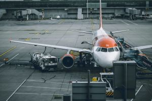 runway white fuel pump orange parked plane preperation plane prep aeroplane tarmac 737