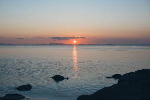 seascape horizon evening water landscape golden hour sky sun sea reflection