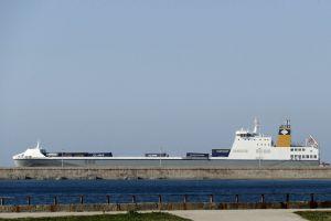 ship wharf bulk carrier shore sea ocean
