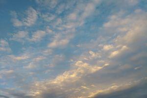 sky clouds evening sunset