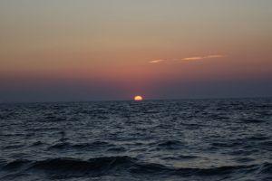 sky sunset sun sea