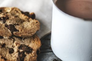 snack beverage macro flavor chocolate chips cookies cup chocolate chip yummy food cream