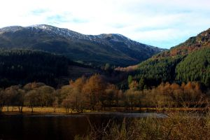 snow blue scotland brown nature national park johny rebel photography bathgate loch lubnaig trees mountains