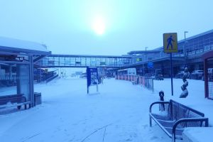 snow canada airport cold winter