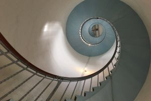 spiral staircase upstairs cool wallpaper lighthouse staircase