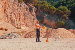 sport healthcare man healthy lifting daylight kettle bell bodybuilding swing crossfit