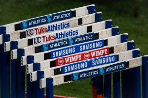 sport stadium hurdles varsity