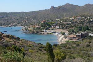 summertime sun greek beach blue water hill ancient greece sea sea beach