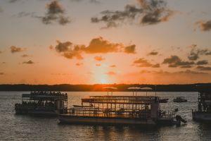 sundown travel vehicle outdoors ocean golden hour harbor pier dawn transportation system