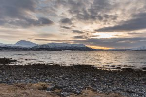 sunrise nature mountain landscape montagne fjord tromsø fjords norway tromso