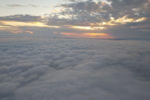 sunset sunshine clouds
