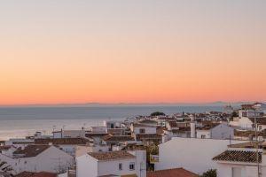 sunset town dawn city architecture buildings sunrise