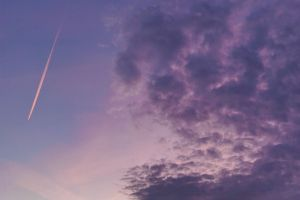 valentine's day color airplane trace pink color sky