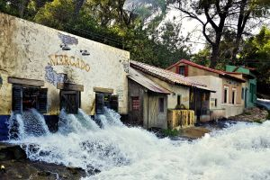 water attraction filmmaker destruction village tourism nature sight tourist attraction old building