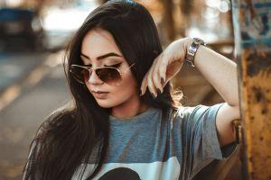woman fashion beautiful sunglasses posing cute eyeglasses model photoshoot fashionable