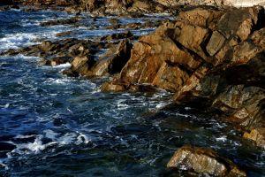 wybrzeże morze plaza skały estakada ocean