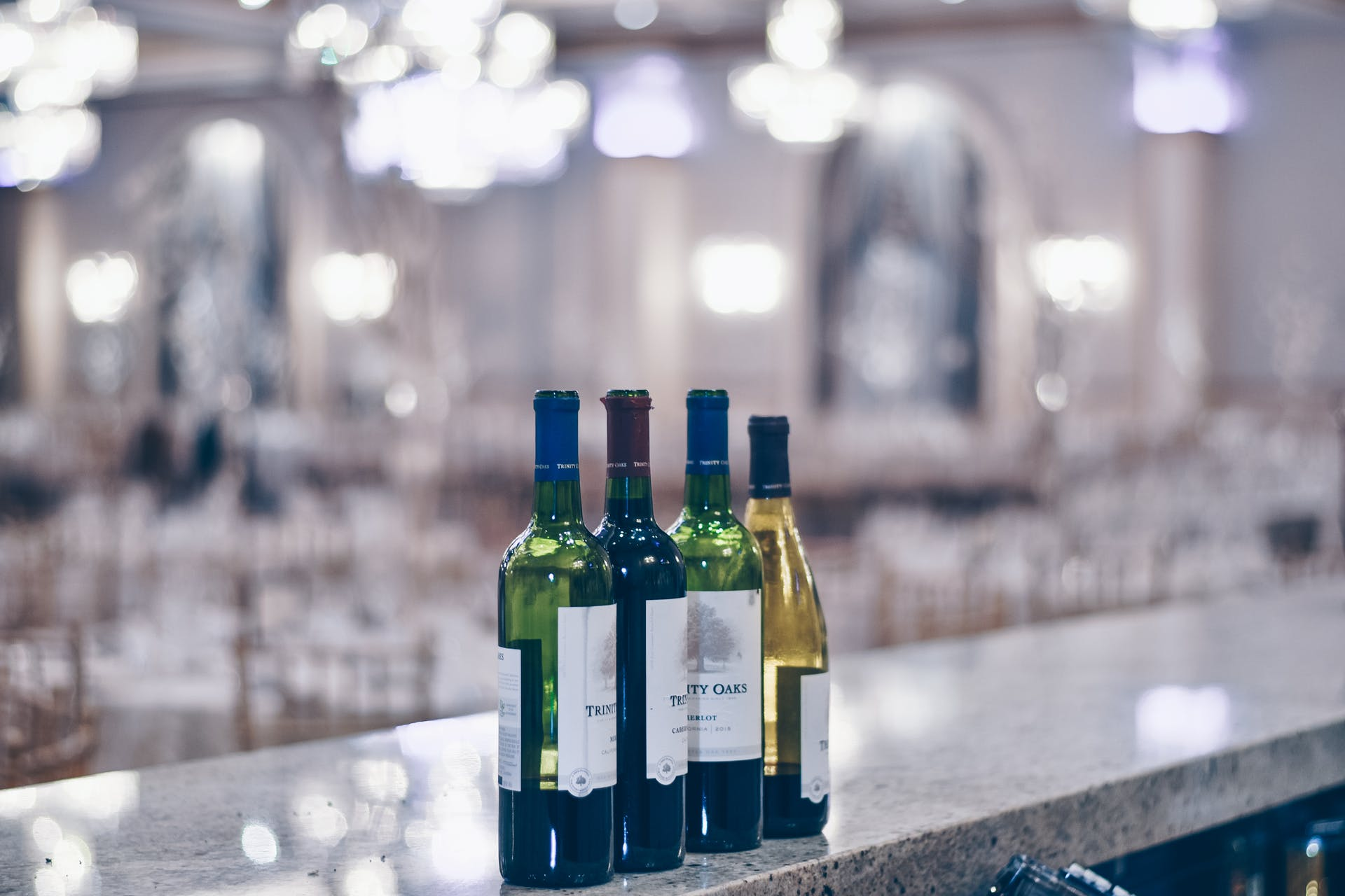alcoholic beverage moody light wedding waiter reflection blue rose wine salon beverage