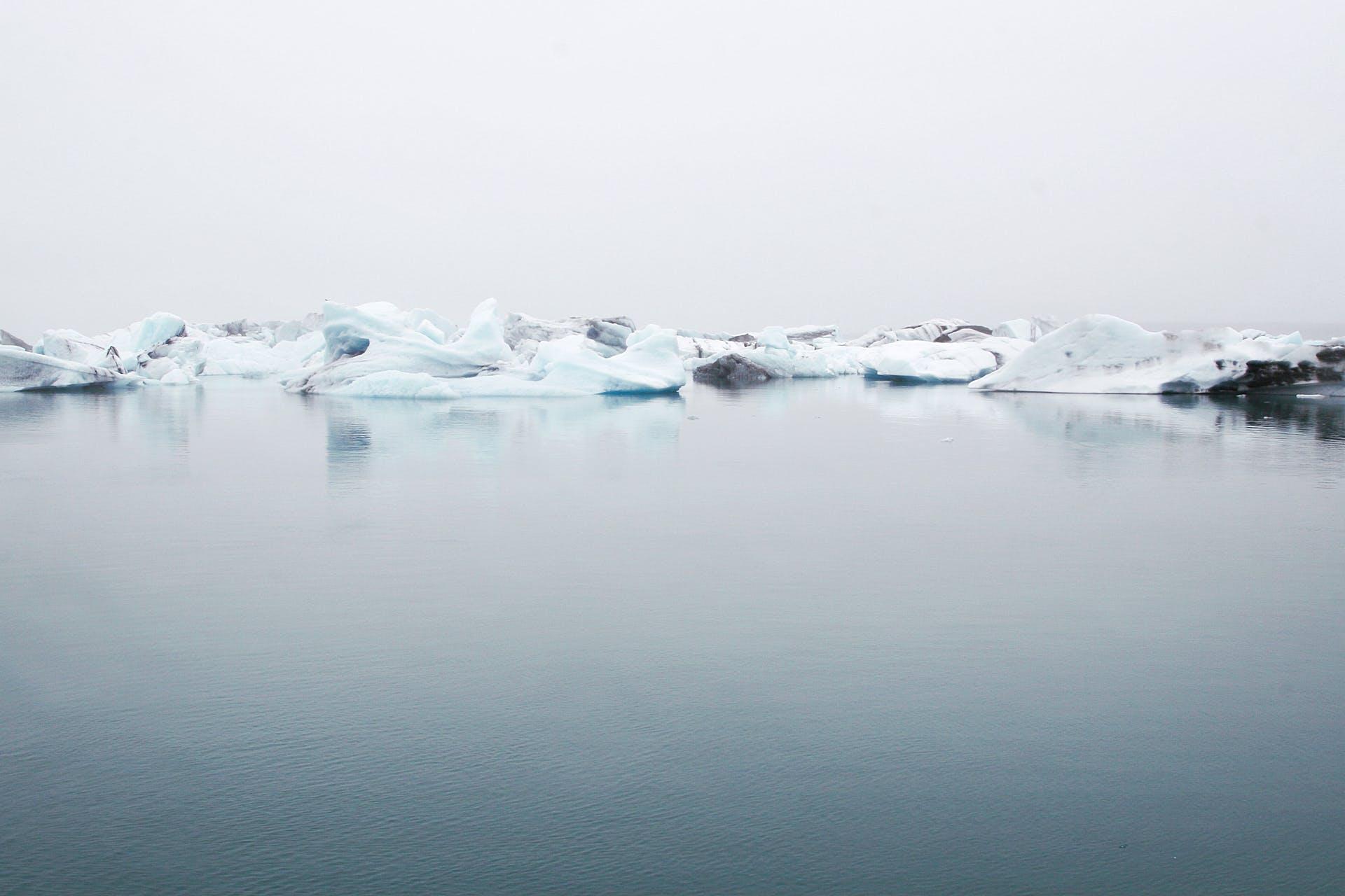 cold sea ice water ocean melting icebergs frozen