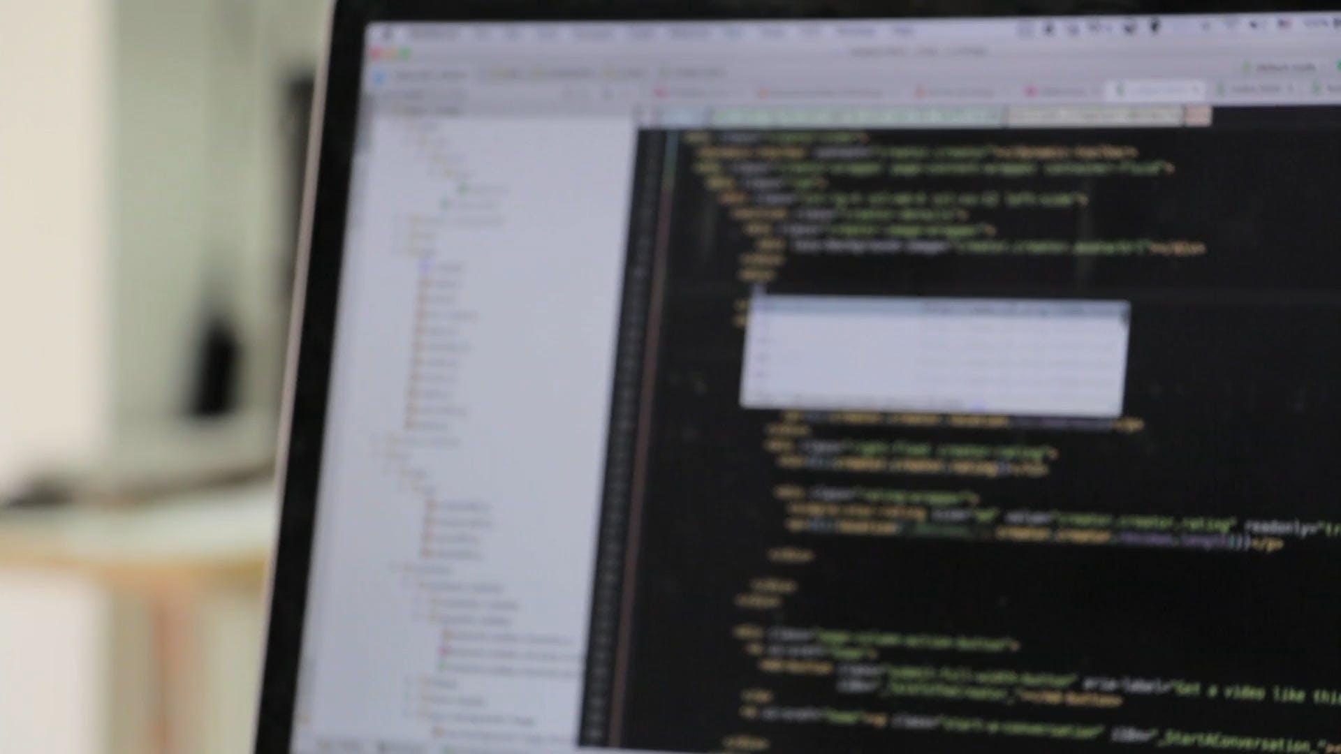 laptop screen code browser technology