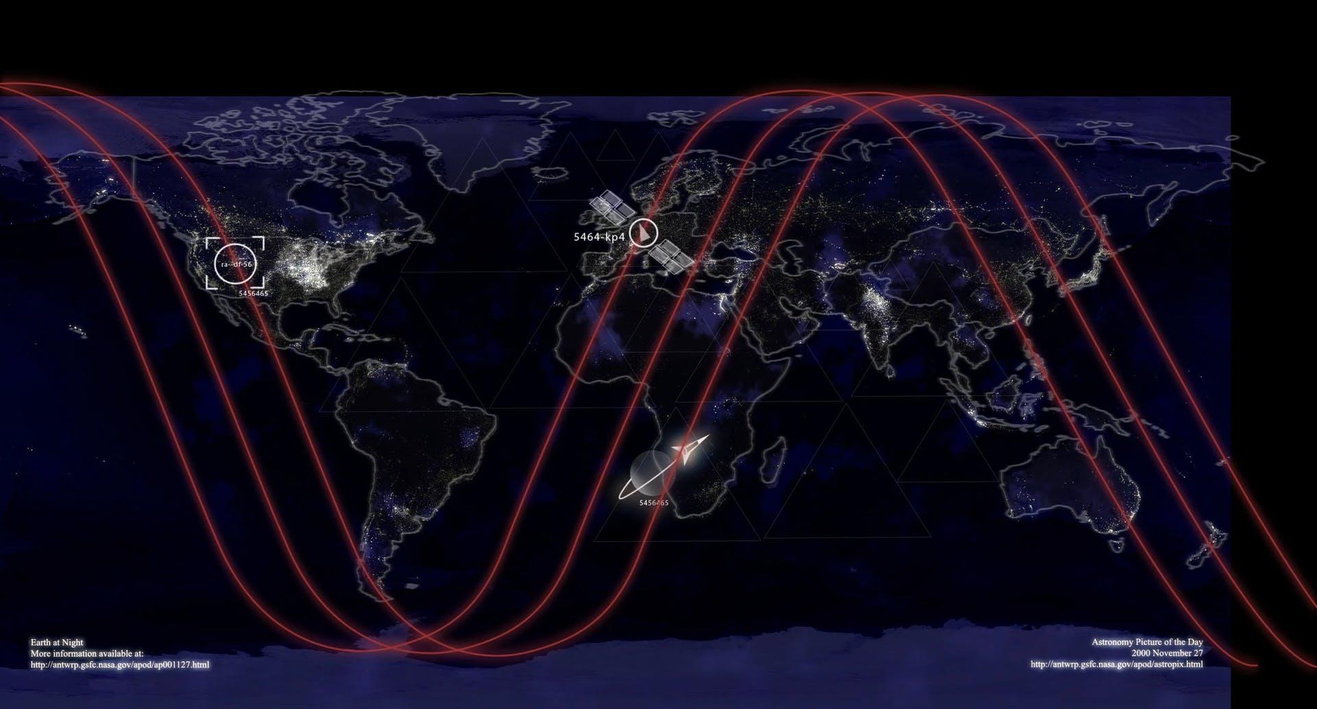 satellite technology screen