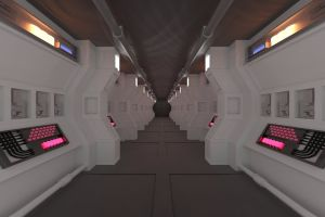 8k wallpaper raytraced hd wallpaper future space blender corridor 7680x4320