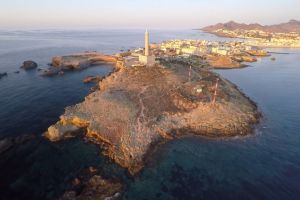 aerial shot architecture sea lighthouse ocean coast water