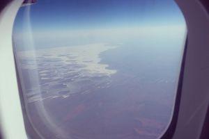aerial view australia plane