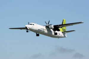 airbaltic airplane flying airplane