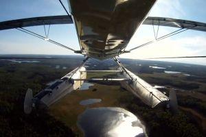 aircraft landscape airplane bird's eye view aviation flight water scenic nature