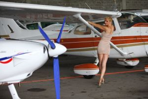 airplane modeling natural nature body blonde hair sensual woman blonde long legs