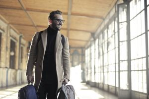 airport adult wear blur train winter smile indoors people station