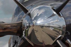 airshow aircraft biplane sky daytime flight plane