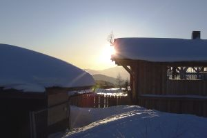 alto adige fiemme sun mountain sunset dolomiti jochgrimm aldein snow passo oclini