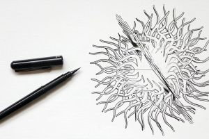 animation black-and-white drawing pen design animated gif