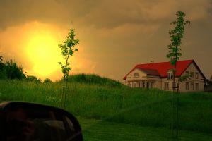 art polska poland sunset green golden photoshop
