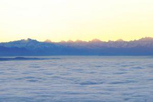 atmosphere sun clouds nature mountain sky sunrise