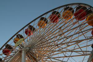 beach pier pacific park ferris wheel leo agpawa pier beach