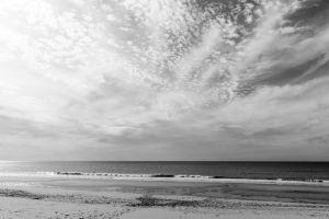 beach sea sand clouds atlantic portugal