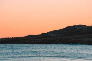 beach sunset water ocean