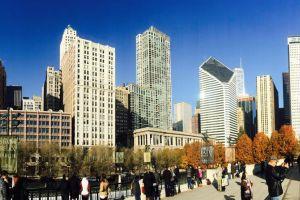 bean #mobilechallenge building sky horizon iphone 6 plus chicago park