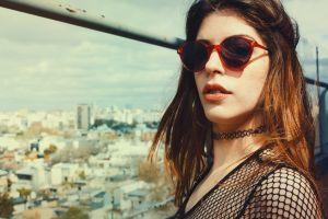 beauty pretty woman buildings person fashion sunglasses urban lady city